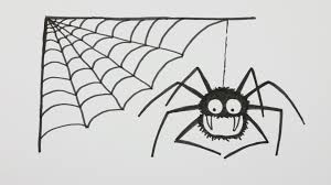 how to draw a halloween spider with spiderweb cartoon comic