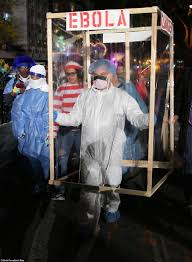 new york city halloween parade hazmat suits and ebola quarantines take center stage at nyc