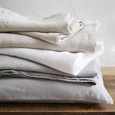 Linen Bedding Sets Belgian Flax Linen Sheet Set White West Elm