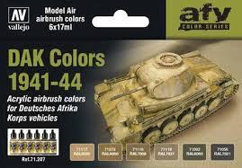 vallejo acrylic paints dak vehicle colors 1941 1944 model air