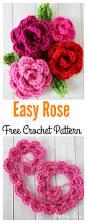 Free Pattern For Crochet Flower - valentine u0027s day crochet flowers free patterns free pattern