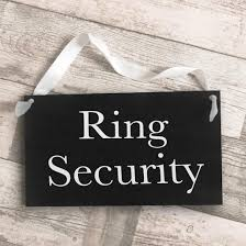 ring security wedding chalkboard style page boy wedding sign ring security the