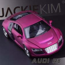 pink audi r8 new 1 32 audi r8 metal toy cars model with musical flashing pull