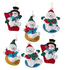 Christmas Decorations Wholesale New Jersey by Bucilla Felt Applique Christmas Ornaments Merrystockings