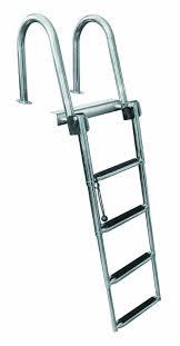 4 step rear entry stainless steel pontoon ladders 4 step pontoon