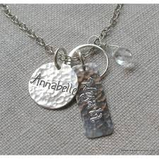 engraved charms necklace with engraved personalized charms