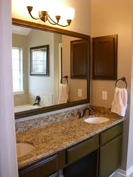 bathroom mirror frame ideas bathroom triple wall downlight sconces applied between sides of