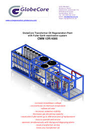 globecore transformer oil regeneration plant cmm 12r 4000