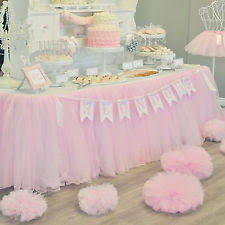 tutu centerpieces for baby shower baby shower party table skirts ebay