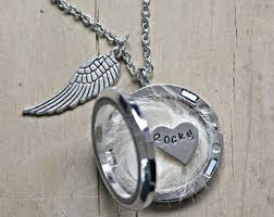 pet memorial necklace pet memorial jewelry etsy