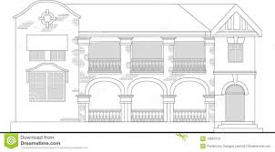 house brick drawing front stock photos image 15851613