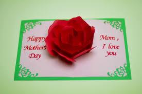mother u0027s day pop up card rose flower creative pop up cards