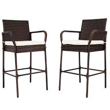 furniture height rattan counter stools with armrest also low back