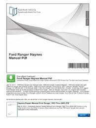download ford ranger haynes manual pdf docshare tips