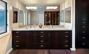 Bathroom Mirror With Built In Light Fascinating Bathroom Mirror With Lights Many Sets Of Drawers In