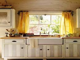 Kitchen Curtain Ideas Small Windows Kitchen Fabulous Sunflower White Kitchen Window Curtain And