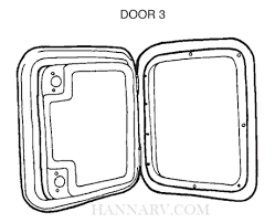 thetford 32144 white access panel door for cassette toilet model