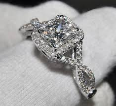 designer wedding rings s 925 silver filled diamond simulated cz pave set