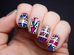 figuras geometricas uñas diseños de uñas las tendencias modernas para el 2017