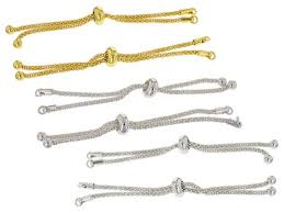 adjustable bracelet chain images Adjustable bracelet making chain 6pc set gold silver tone appx 8 quot jpg&a
