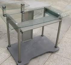 Glass Metal Computer Desk Wood And Metal Computer Desk Home Design Ideas