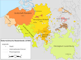 Map Qu File Carte Montrant Les Pays Bas Autrichiens Et Leurs Provinces