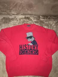 bart sweater vintage iceberg history sweater bart suede