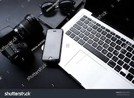 laptop desk minimalist setup stock photo 360021899 shutterstock
