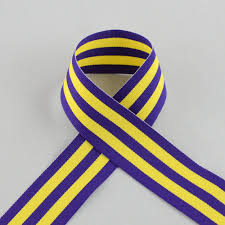 striped grosgrain ribbon 1 5 purple gold striped grosgrain ribbon 25 yards 4917 c05