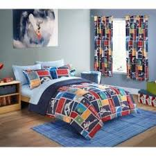 Mainstay Comforter Sets Mainstays 5 Piece Kids Stripes And Stars Bedding Full Comforter