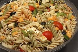 cold pasta dish cold pasta salad vinaigrette recipegreat com