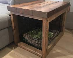 dog crate table etsy