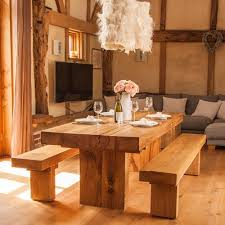 Solid Oak Dining Table Best 25 Rustic Dining Set Ideas On Pinterest Wood Dinning Room