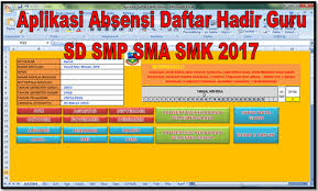format rekap absensi pegawai aplikasi absensi daftar hadir guru sd smp sma smk 2017 format excel