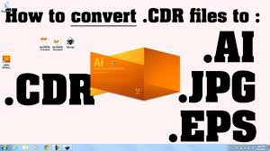 format eps w czym otworzyc how to convert cdr files to ai files tutorial youtube