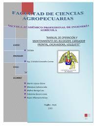 manual de operación y mantenimiento del buldozer cargador frontal