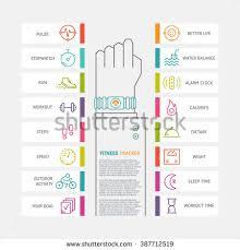 life tracker bracelet images Vector fitness tracker flat ine infographic stock vector 387712519 jpg