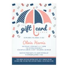 gift card bridal shower coral bridal shower invitations announcements zazzle