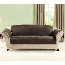 Couch With Slipcover Brown Vintage Leather Sofa Slipcover Sure Fit Target