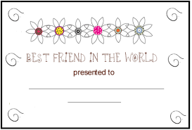 friend certificate coloring pages bebo pandco