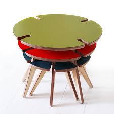 set of three crop circle coffee tables by wood u0026 wire
