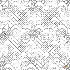 dinette line tiled pattern coloring page free printable coloring