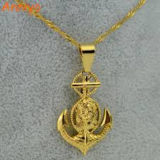 aliexpress cross necklace images Anniyo cross jesus anchor pendant necklace women men gold color jpg