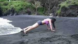 Volcanic Sand Volcanic Blast Workout Black Sand Beach Youtube