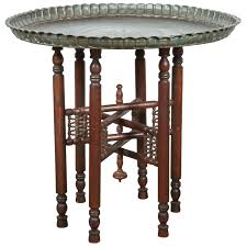 Persian Furniture Store In Los Angeles Persian Mameluke Tray Table On Wooden Folding Stand For Sale At