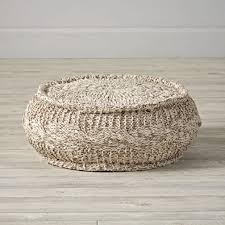 round knit pouf the land of nod