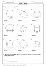 volume cylinder worksheet volume of a cylinder worksheet interdisciplinary infusion in the