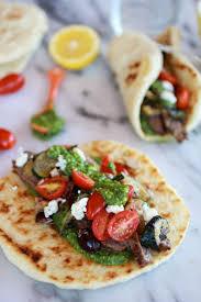 greek steak and pesto salad gyros half baked harvest