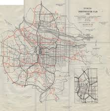 map of oregon freeways portland vancouver metropolitan area transportation study july 1969
