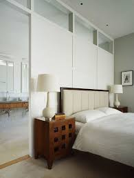 Wood Divider Bedroom Gray Wall Bedroom With Wood Panel Room Divider Also